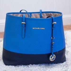 Blue Micheal Kors Bag